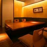 贅沢なしつらえの完全個室は3名様~16名様までご利用頂けます。掘りごたつでゆっくりとお過ごしください。