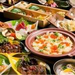 料理長が届ける【北海道料理 海籠】こだわりの贅沢な懐石コース。 飲み放題付きは税別10000円になります。