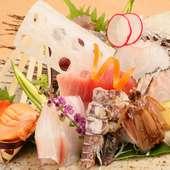 旬の食材を厳選・直送。新鮮さが堪能できる『刺身盛り合わせ』