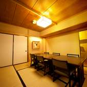 全室個室の情緒ある和の空間。中広間や大広間としても利用可能