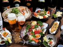 飲み放題付きの充実したコースで、美味しい宴会を満喫