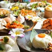 人気の『フォー』や、ナンピザなど、インドネシアやタイなどのアジアンテイスト溢れる料理を、本場の味わいから、日本人好みにアレンジした逸品まで豊富に用意しています。ヤミツキになる事間違いなしの美味しさ。