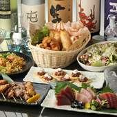 飲み放題付き宴会コースが4000円~。宴会や飲み会におすすめ