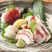 新鮮な日替わりのお魚メニュー