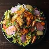 いろいろ野菜の健康サラダ 手づくりドレッシングで