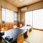 プライベートな空間で落ち着いて食事が楽しめる個室