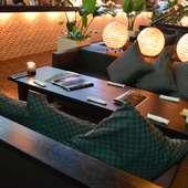 イメージは高級ホテルにあるラウンジ。モダンな空間を楽しんで