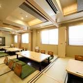 2階の掘りごたつ式座敷は、最大で30名まで着席可能
