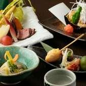 ごまの美味しさをフルコースで! 季節の食材がごまの魅力を引き立てる『蔵馬コース』 ※要予約