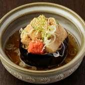 生とは一味違った食感がたまらない『あつあつ 揚げだし胡麻豆腐』