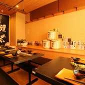 日本各地の蔵元から選んだ豊富な日本酒が、その日の気分で選べる