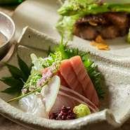 季節の移り変わりを楽しめる、厳選された旬食材