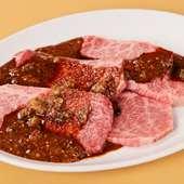 肉の種類が豊富、精肉店直営ならではの品揃え