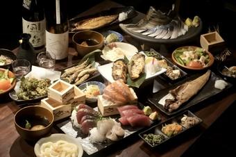 厳選食材を使ったお食事8品。 2.5時間飲み放題付き+厳選日本酒15種!!!!!