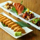 日本酒と絶妙なハーモニーを奏でる料理の数々