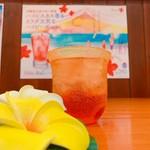 琉球ハーブエキス「Beni」を使用した、泡盛ベースのちょっち強めのカクテルです!!