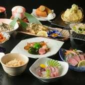 富山県産食材が活きた、季節を感じる料理『店主のおまかせコース』
