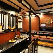 カジュアルシーンから特別なひと時まで、幅広く利用できる料理店