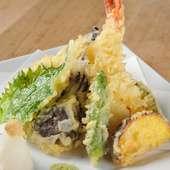 地元で採れた野菜も使用した『天ぷら』