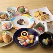 刺身(地魚)天麩羅を中心としたメニューでおもてなしいたします。御膳、丼、自家製そば、コース料理、幅広いメニューを取り揃えております。