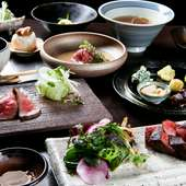 メインのお肉が3種類のコース料理でございます。 唐津、中村牧場の雌牛のみを使用した店主こだわりコース。