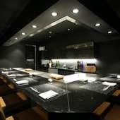 シックな内装の美味空間。大事なビジネスシーンも安心&満足