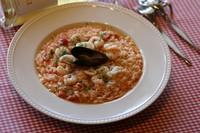 越谷産のコシヒカリを自家製トマトソースで炊き上げた定番中の定番リゾットです 【アレルギー情報】無し ※大盛プラス200円