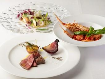 各地の旬食材でつくる極上の本格イタリアンをコースで堪能