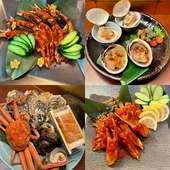 海の恵みを贅沢に堪能『焼き蟹と甲羅味噌焼き』