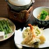 天然魚と京野菜をふんだんに使用した和食