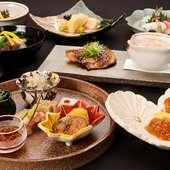 料理人自らが目利きした、旬の食材を使用『懐石料理』