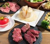 熟成黒毛和牛のこだわりステーキと極レアタルタルハンバーグ! 野菜とお肉がたっぷりの定番コース!