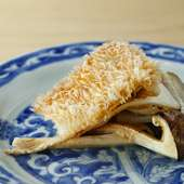 京の味覚の共演『甘鯛と松茸の合わせ焼き』