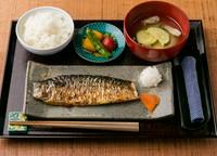 調味料は一切付けずにそのまま食べる『鯖の塩焼定食』