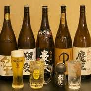 """幅広い世代から「飲みやすい!」人気の『日本酒ハイボール』。日本酒になじみの薄い女性からも好評です。和歌山の地酒や""""幻の名酒""""と呼ばれる貴重なお酒まで、約100種類の中から様々なお酒を楽しめます。"""