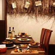 秋田の食材をふんだんに使用したコース料理をご用意しており、飲み放題も可能です。おしゃれで温かみを感じる店内は職場の仲間同士や友人との各種宴会にぴったりです。