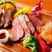 NIKU MARE 牛・豚・鴨 肉3種盛りプレート