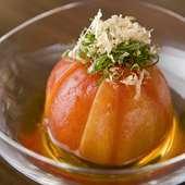 甘酸っぱさと鰹の風味がトマトによく合う『トマトの土佐酢漬け』