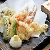 柔らかく、素材本来の良さを味わえる『北寄天ぷら』