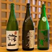 季節の酒も織り交ぜつつ、寿司に寄り添う福井の銘酒を
