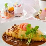 『オムライス街道』が有名な日高村のオムライス。錦山ccレストランのオムライスも、例にもれず人気の一品。 地元の方から県外の方まで、今日もオムライスを求めて錦山へ。