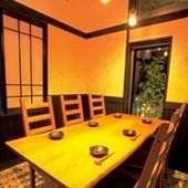 6名までのテーブル席個室