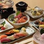 旬の魚・海鮮そのものの素材の味を堪能できる