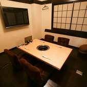 プライベートな時間を享受できる完全個室が3部屋