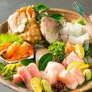 瀬戸内海の海の幸を、店主自ら厳しい目で選んでご提供しております。その日一番の鮮魚は是非味わっていただきたい一品です。