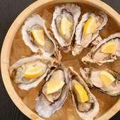 昆布森漁港から直送している、肉厚で美味しい『厚岸産 生牡蠣』
