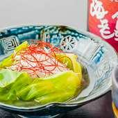 広島産かきを使った創作料理『かきのキャベツ包み』