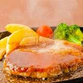 熟成肉の旨味たっぷり! 『ポークジンジャーステーキ』