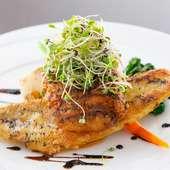 白身魚のクロッカン -桜エビの焦がしバターソース