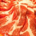 <沖縄県産 熟成Premium豚のしゃぶしゃぶコース>~沖縄ならではの絶品しゃぶしゃぶです~